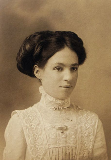 dccc5ecf4 +~+~ Antique Photograph ~+~+ Elegant young woman with beautiful hair up in  a bun, wearing a detailed white dress