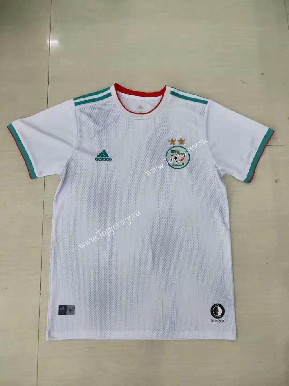 2019 2020 Algeria 2 Stars Home White Thailand Soccer Jersey Aaa Soccer Jersey Soccer Football Sweater