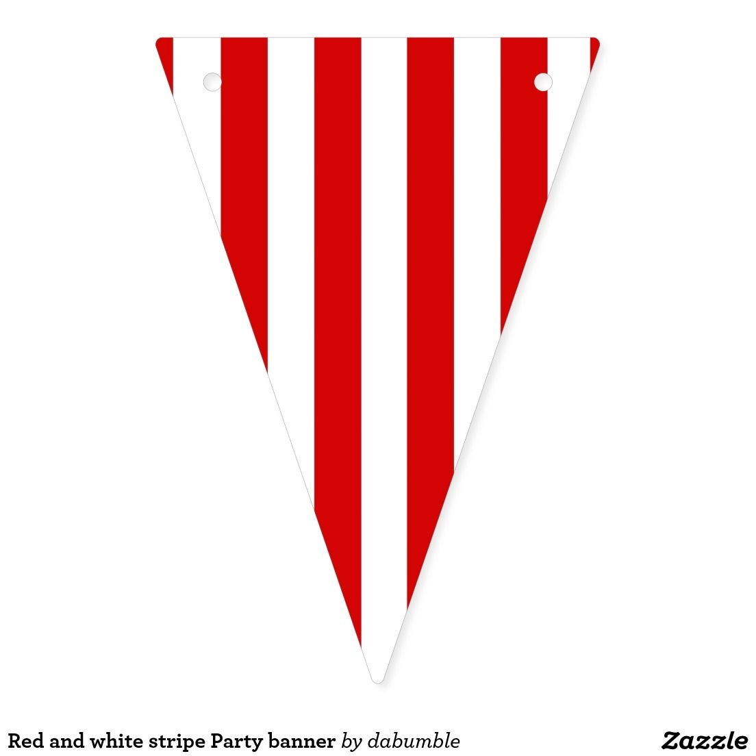 Red And White Stripe Party Banner Zazzle Com In 2020 Stripes Party Party Banner Red And White Stripes
