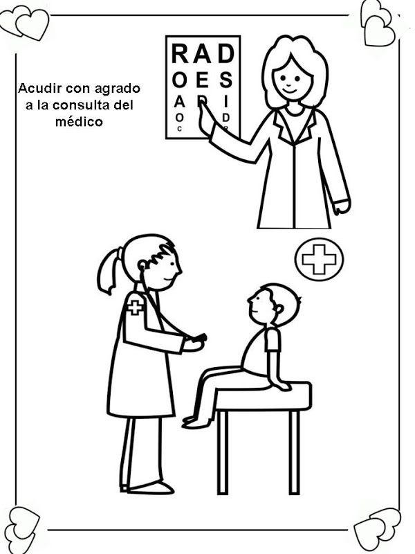 Colorear Dibujos Salud 05 Obligaciones Del Nino Deberes De Los Ninos Dibujos Para Colorear