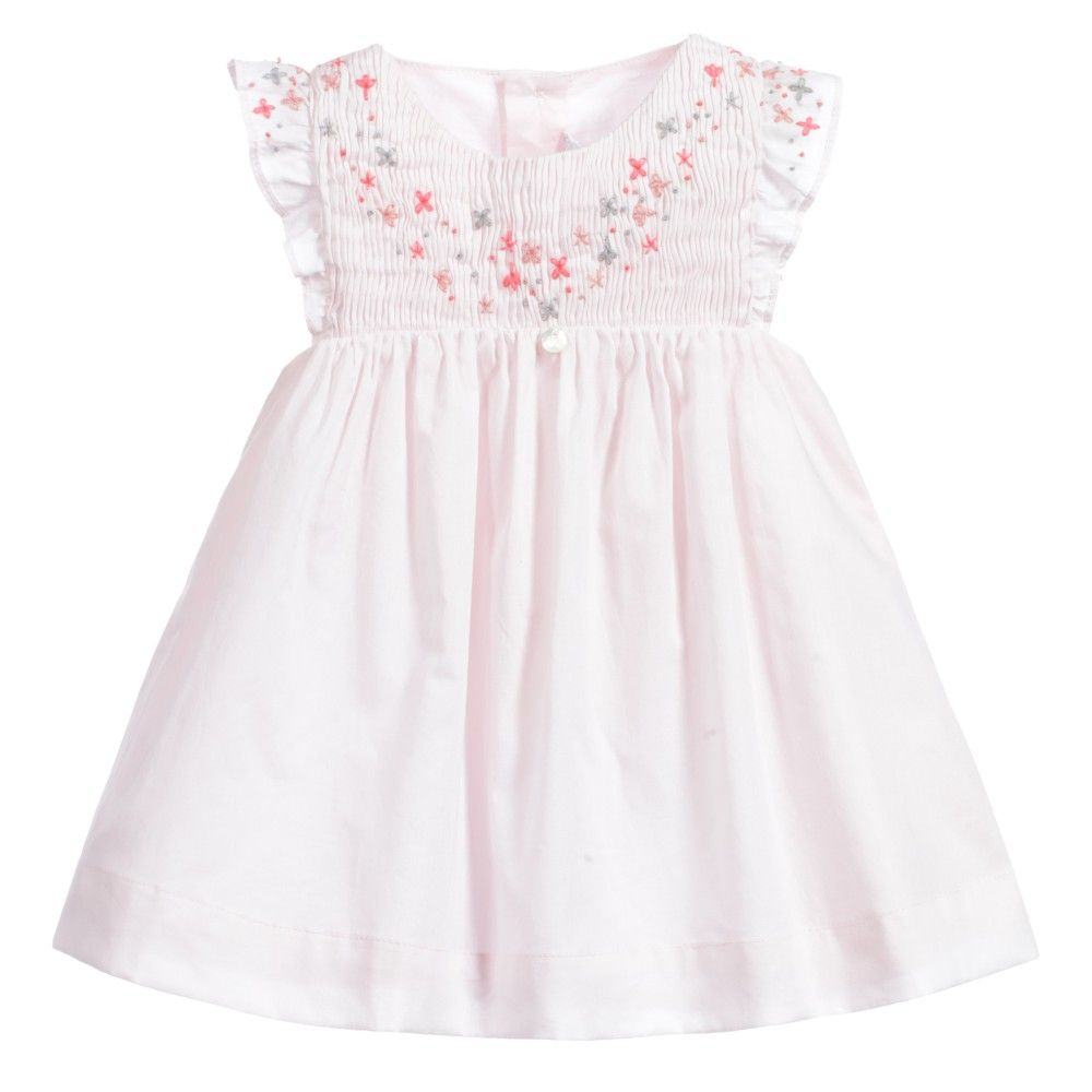 d553322bcfb1 Tartine et Chocolat Baby Girls Pale Pink Embroidered Dress at  Childrensalon.com