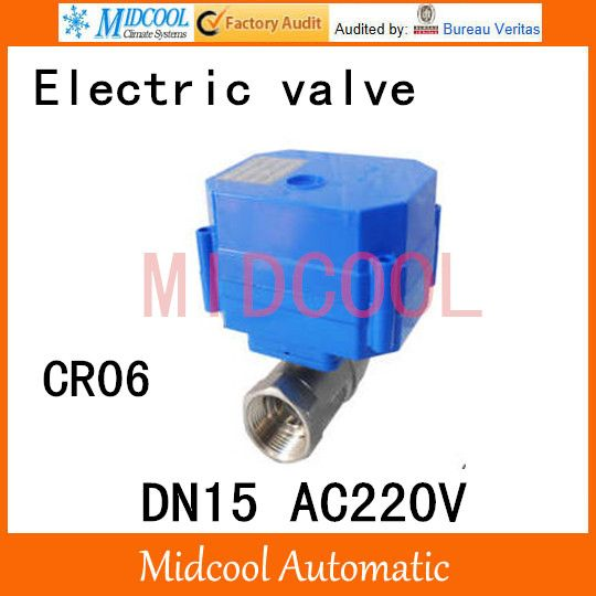 Stainless Steel Motorized Ball Valve 1 2 Dn15 Water Control Angle Valve Ac220v Electrical Ball Two Way Valve Wires Cr 06 Electricity Valve Stainless Steel