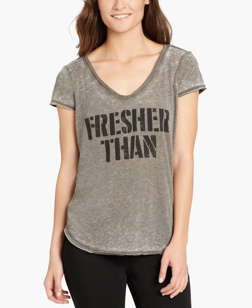 9daadb4d98c4 William Rast 2012 Size XL Womens NEW Gray Melange T-Shirt Top ...