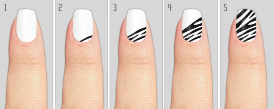How To Do Zebra Print Nails At Home Nails And Toes Pinterest