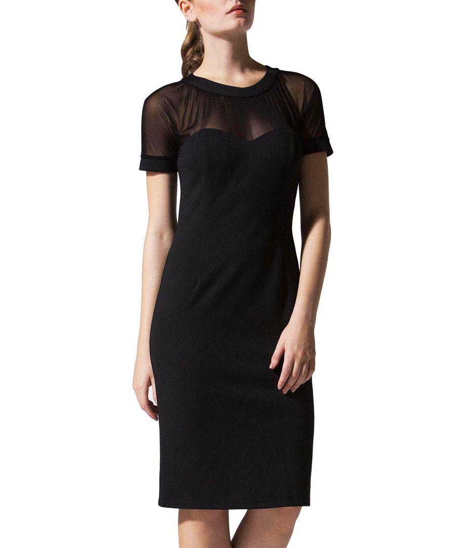 Coco+black+mesh+insert+sweetheart+dress+by+LITTLE+BLACK+DRESS+on+secretsales.com