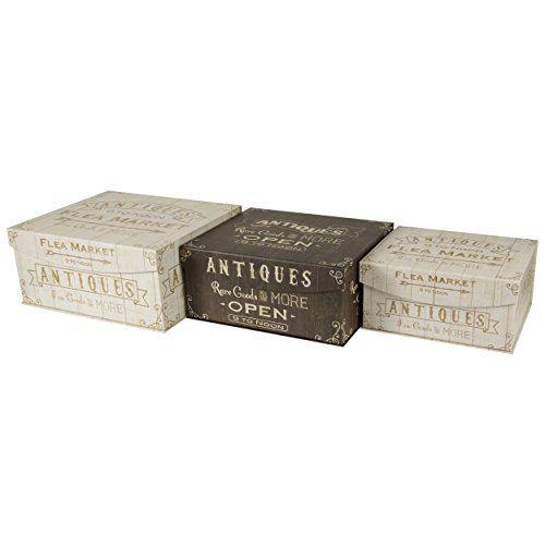Decorative Nesting Storage Boxes Decorative Nested Flip Top Storage Boxes  By Enchante Accessories 33