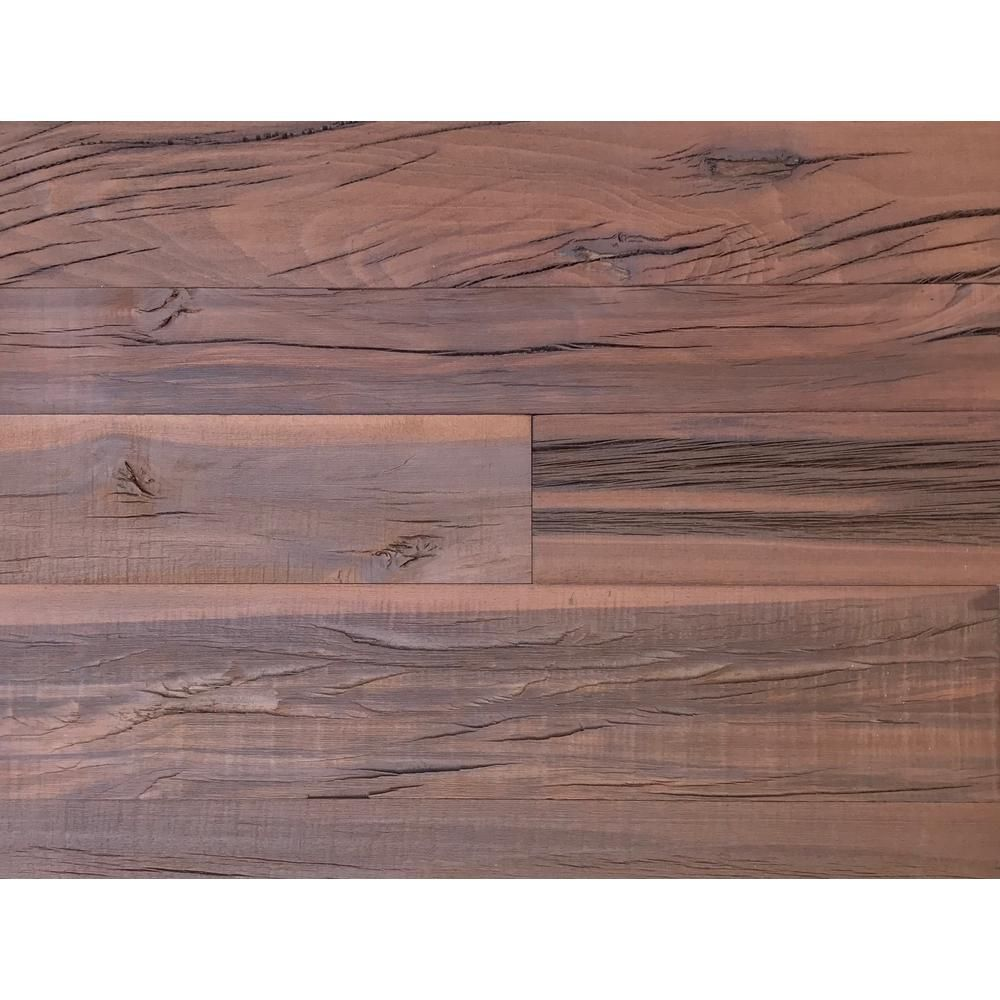 Holey Wood 100 5 16 In X 4 24 Reclaimed Decorative Wall Planks Brown Color 10 Sq Ft Case 11138 The Home Depot