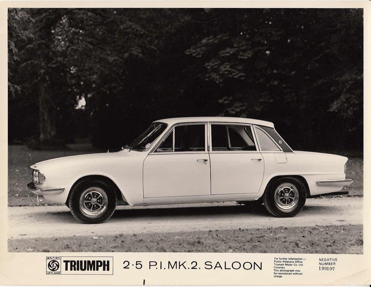 1970 TRIUMPH 2.5 PI Mark 2 British Leyland UK Brochure