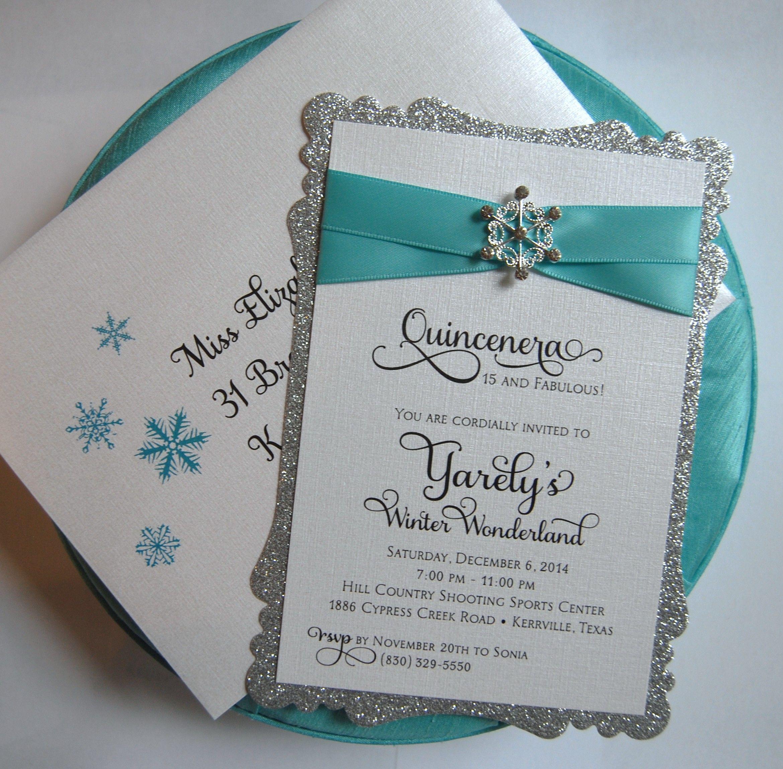 sweet 16 quincenera baby shower 1st birthday winter wonderland