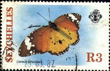 Foreign postage stamps of Australian Butterflies