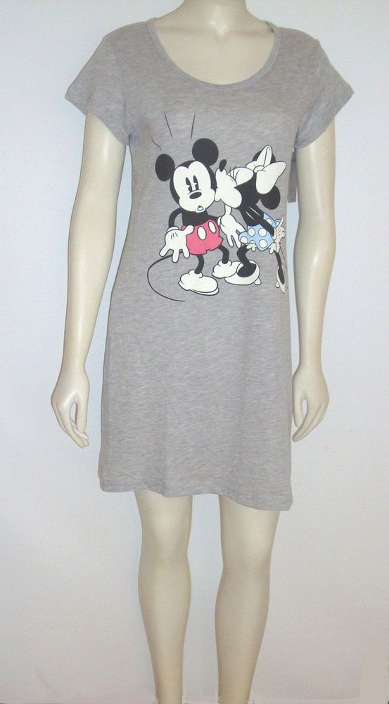eb195c1225 Disney Nightgown Sleepwear size Medium   XL MINNIE Kissing MICKEY Mouse  Sleep Dress  nightgowns ebay 400842926705