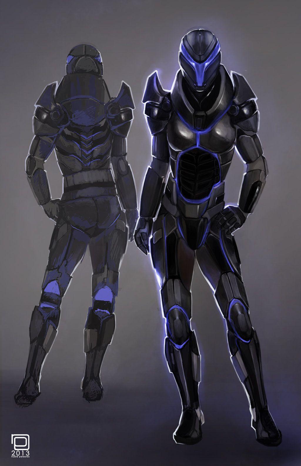 29+ Cyberpunk Futuristic Female Armor Wallpapers