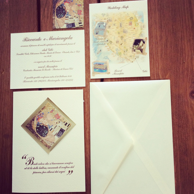 Partecipazioni Matrimonio Klimt.E Coordinati Di Matrimonio Online Partecipazioni Per Matrimonio