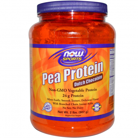 Now Sports Pea Protein Dutch Chocolate 2 lbs 907g