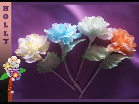 How To Make Tissue Paper Flowers Easy Unique Tissue Paper Flowers