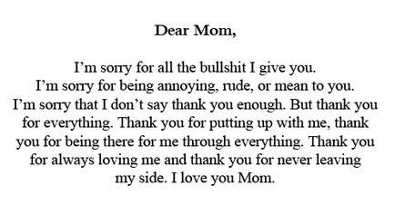 To My Mom Love U Yearbook Mom Quotes Mom Quotes From Daughter