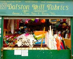 Fantastic purveyor of fabrics and all things sewing - Dalston Mill Fabrics, Ridley Road Market....