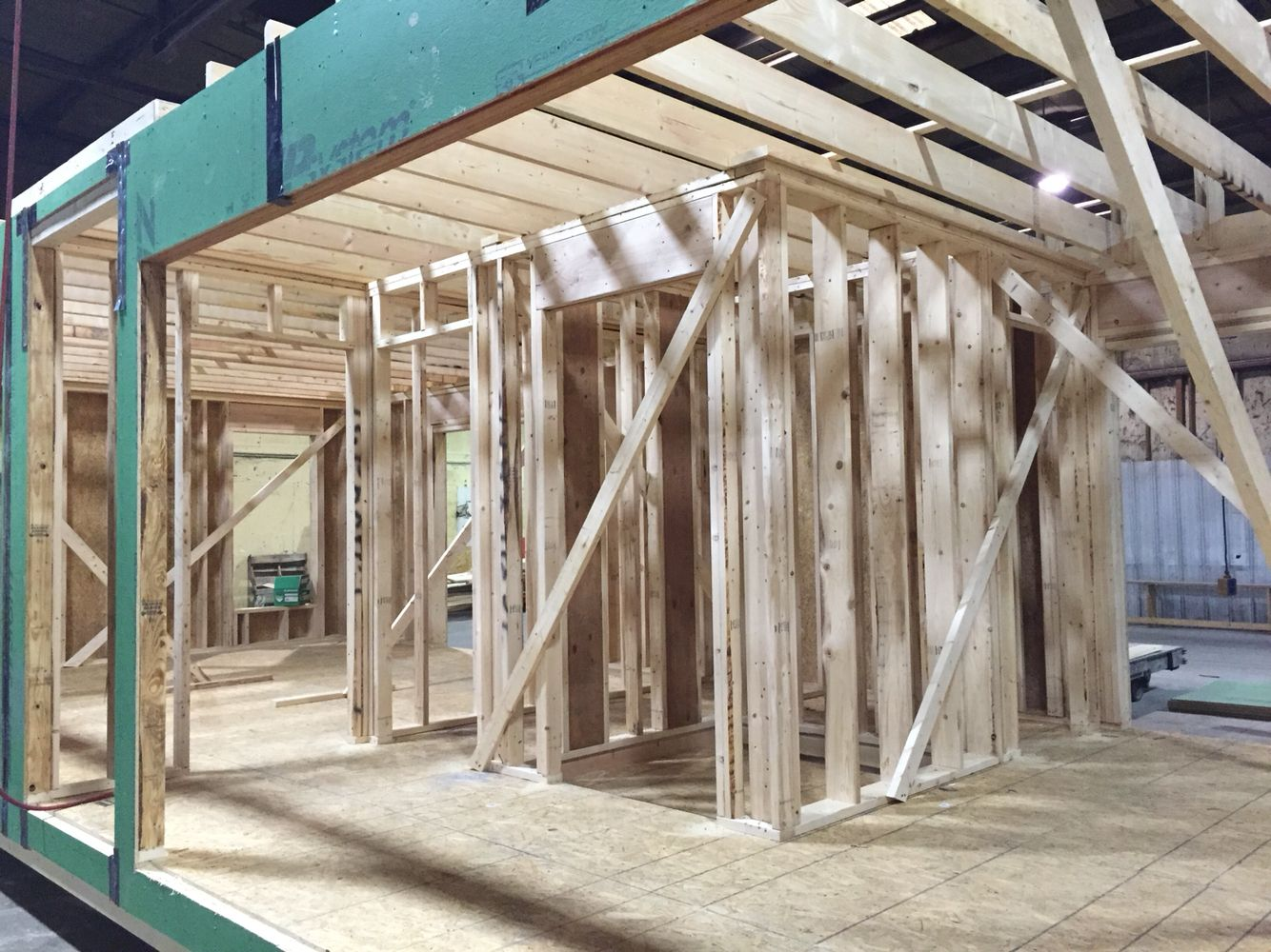2x6 Exterior walls with 2x4 interior framing. | Plant Assembly ...