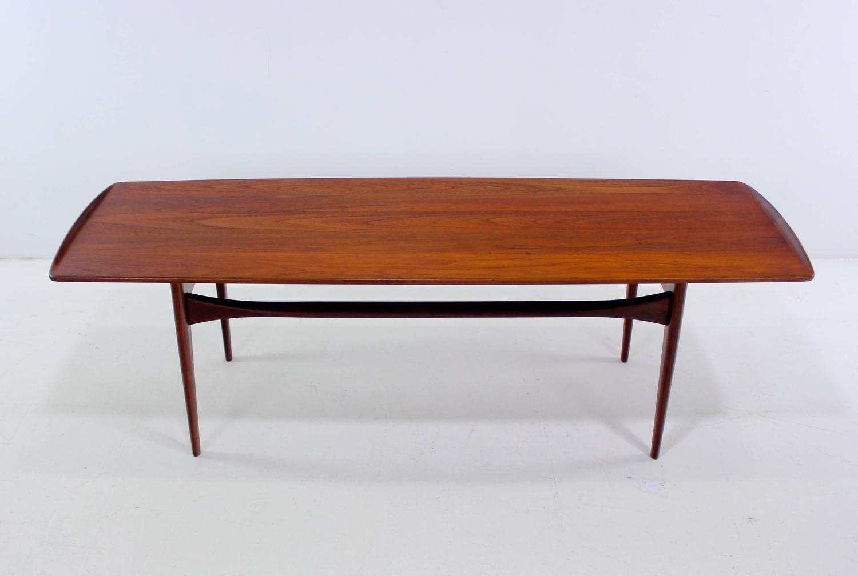 Danish Modern Solid Teak Coffee Table By Tove Edvard Kindt Larsen 1stdibs Com Coffee Table Table Danish Table [ 1008 x 1500 Pixel ]