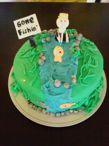 Fishing fathers day cake