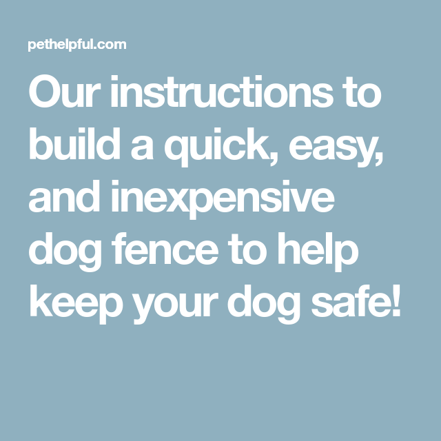 How To Build A Quick Easy And Inexpensive Dog Fence Dog Fence Dog Safe Dog Shots