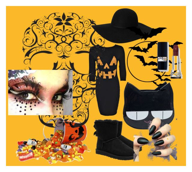 """halloween"" by zumraselimovic ❤ liked on Polyvore featuring UGG Australia and Monki"