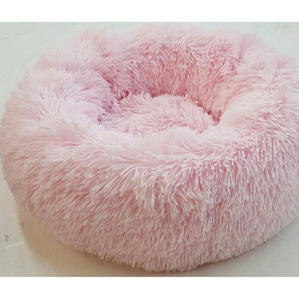 How Cozy Does This Look Mr Wags Pink Shaggy Toy Donut Dog Bed