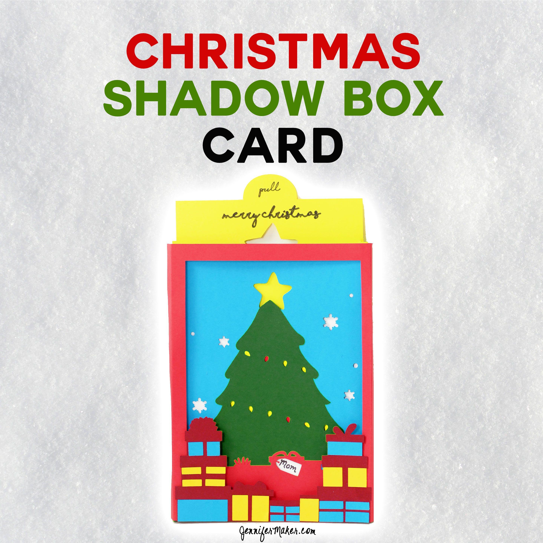 Christmas Tree Shadow Box Card Shadow box, Card box
