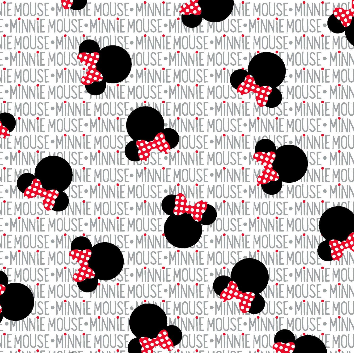 Disney Minnie Mouse Heads and Bows cotton fabric, 1 yard ... - photo#35