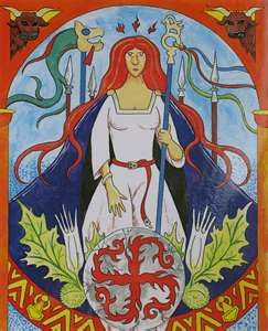 Thrud, is a goddess of the Nordic mythology, She the daughter of Thor and Sif, is the goddess of willows, trees, flowers and grass. She signifies the seed