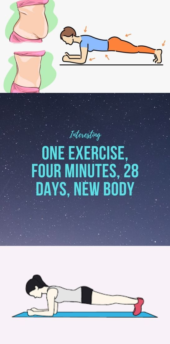 Photo of One Exercise, Four Minutes, 28 Days, New Body