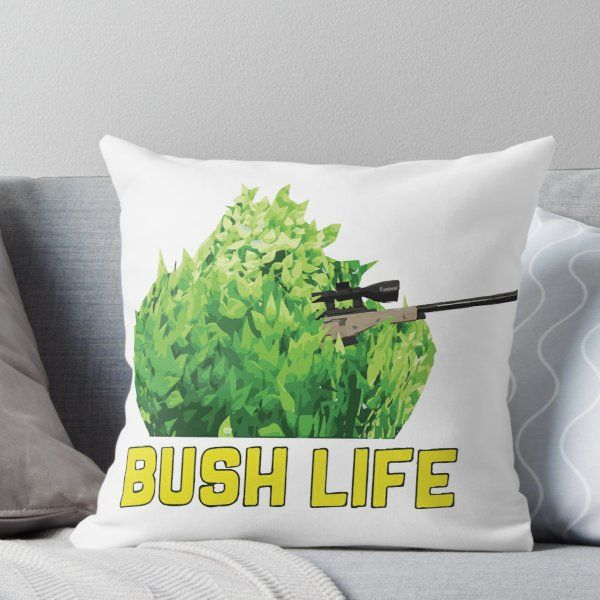 Peachy Fortnite Gamer Bush Life Camper Throw Pillow Products In Uwap Interior Chair Design Uwaporg
