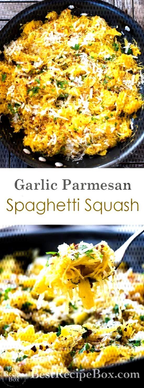 Healthy Spaghetti Squash Recipe with Garlic and Parmesan - Food -