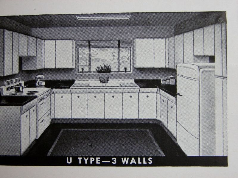 1948 American Kitchens Steel Wall Base, American Kitchens Metal Cabinets