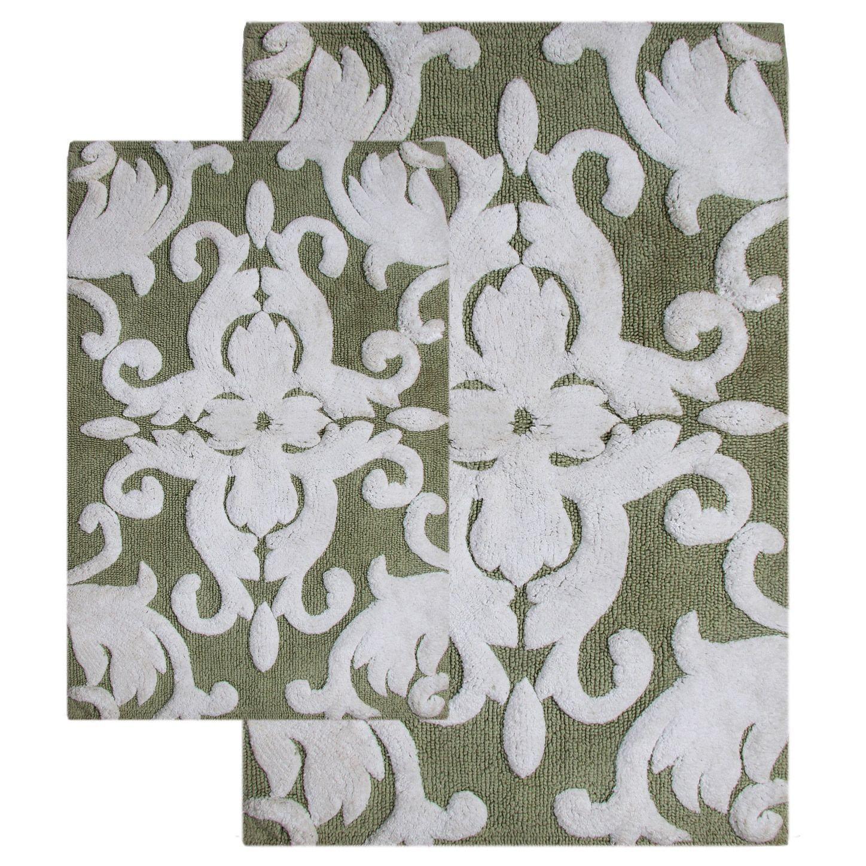 Chesapeake Merchandising, Inc Iron Gate Cotton 2-piece Bath Rug Set - Includes Bonus Step Out Mat