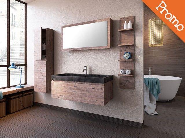 Mobile bagno lodge 100 con lavabo in pietra nera bagno pinterest bagno - Rubinetteria bagno nera ...
