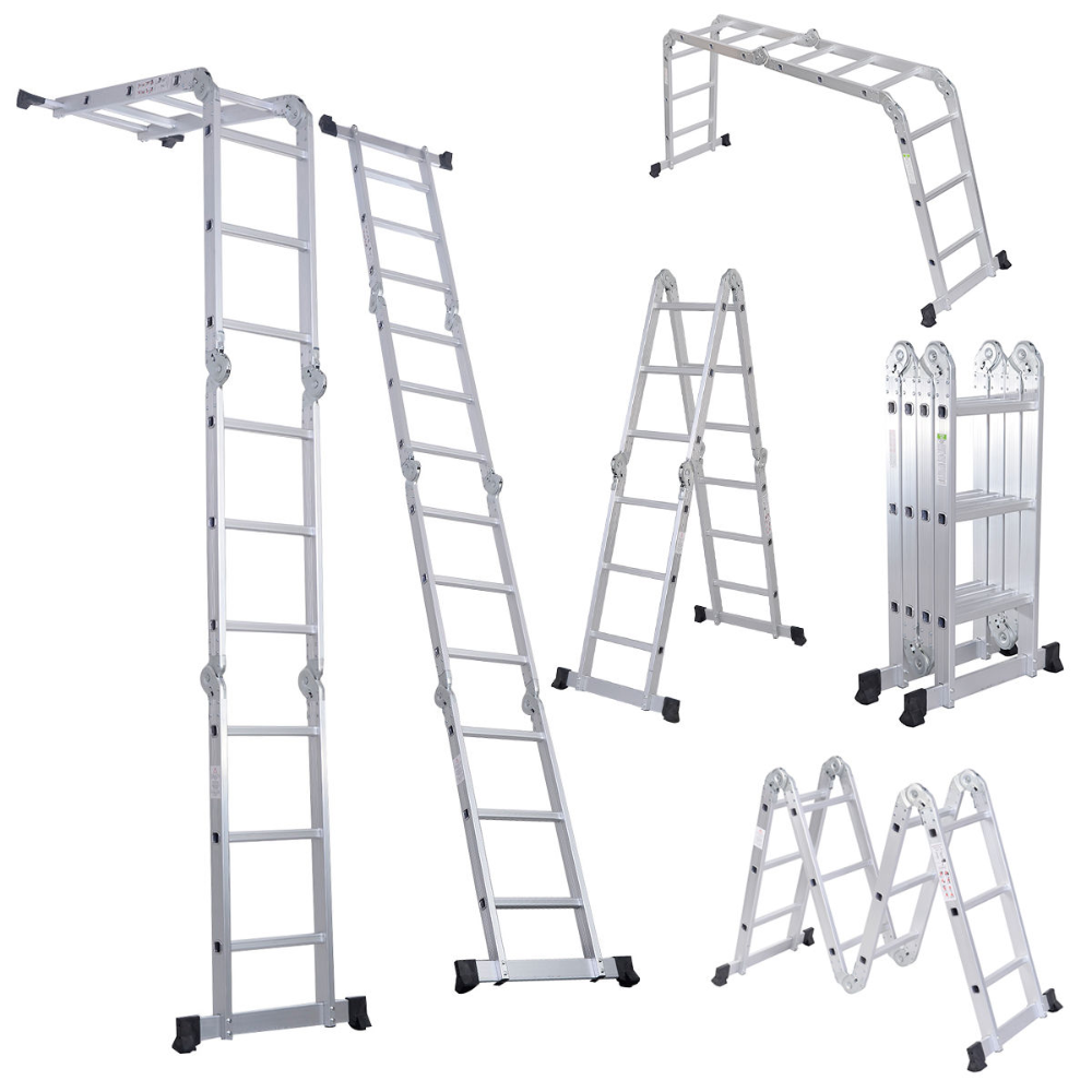 Cstway En131 330lb Multi Purpose Step Platform Aluminum Folding Scaffold Ladder 12 1 2 Ft Walmart Com In 2020 Best Ladder Scaffold Ladder Folding Ladder