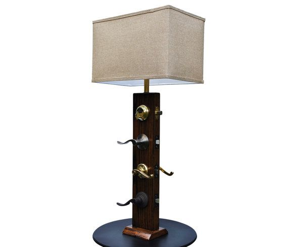 Schlage Levers Table Lamp 1 Wood by VespertineLighting on Etsy