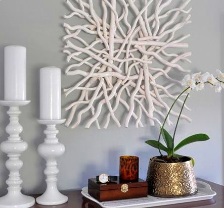 White Driftwood Wall Art