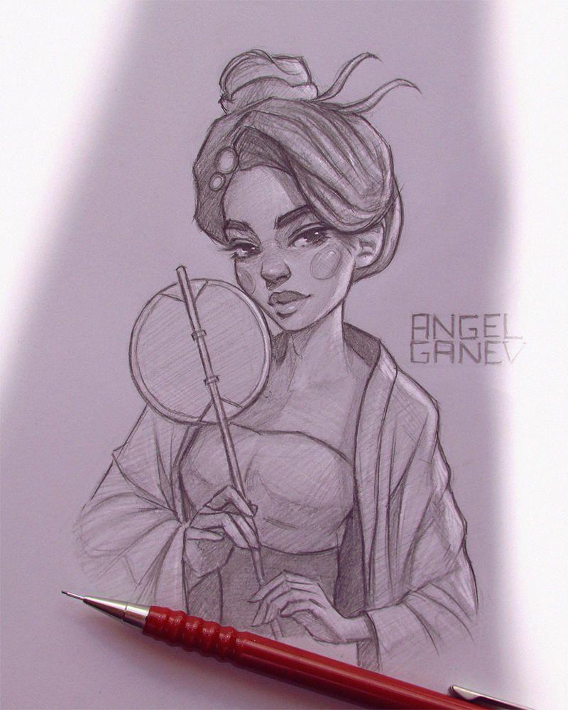 Katsuha Day 75 By Angelganev On Deviantart Lotus Art Art Angel