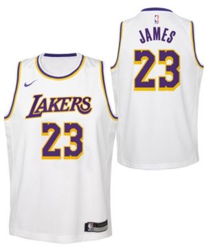 reputable site 6497c 3ece3 Nike LeBron James Los Angeles Lakers Association Swingman ...