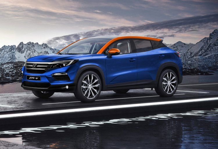Honda Zr V Front Quarters Rendering In 2020 Compact Suv Honda Crv Honda