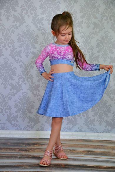 Duchess's Knit Circle Skirt Sizes 2T to 14 Kids PDF ...