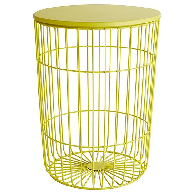 Hudson wire frame side table yellow soft toy storage toy hudson wire frame side table yellow target australia greentooth Gallery
