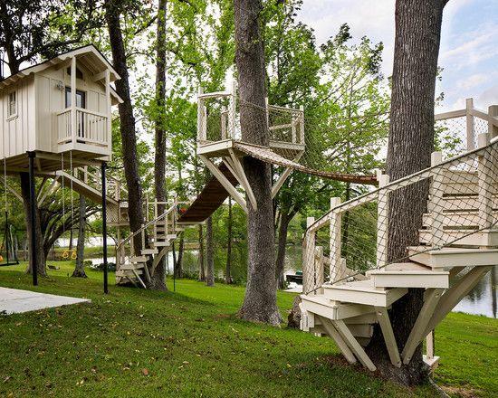 garten-gestaltung spielhäuser für kinder-spindeltreppen, Gartengerate ideen