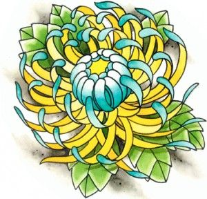 f65a4c4790d74 Fantastic Chrysanthemum Tattoo Design   FLOWERS   Chrysanthemum ...