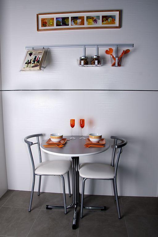 Por muy peque a que sea tu cocina siempre hay un espacio - Mesa cocina pequena ...