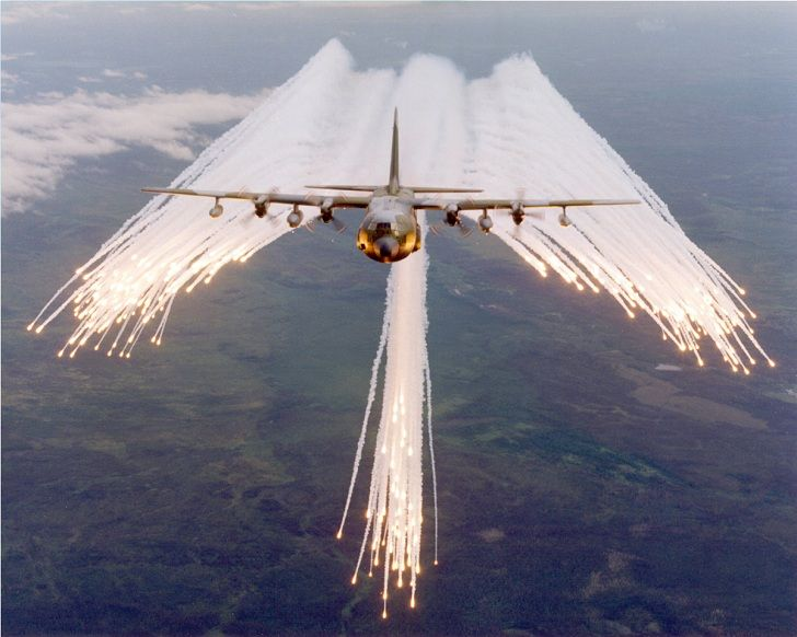 angel flare pattern flares ejected from large planes to protect