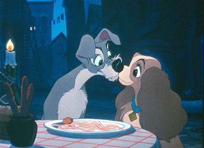 Disney Challenge Day 14 Favorite Kiss Lady The Tramp Movie Kisses Classic Disney Movies Romantic Movies