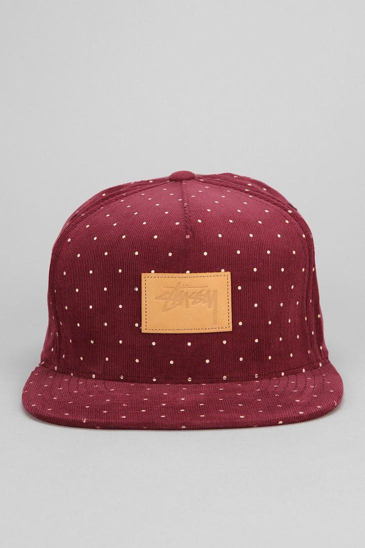 ef0f00ac9ea Stussy Polka Dot Corduroy Strap-Back Hat